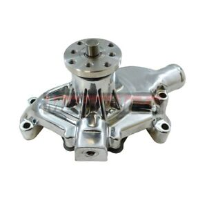 Small Block Chevy Chrome Aluminum Short Water Pump Sbc High Volume 283 350 327 S