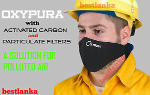 Anti Smoke Outdoor Air Purifying Face Mask Activated Carbon Filter Multi Layer