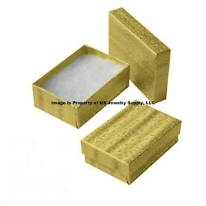 Wholesale 2000 Gold Cotton Fill Jewelry Packaging Gift Box 3 1 4 X 2 1 4 X 1