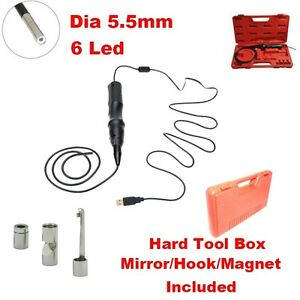 Handheld Usb Pipe Inspection Camera Borescope Endoscope Tube Snake Waterproof Q6