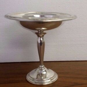 Vintage Courtship International Weighted Sterling Silver Ornate Compote 6 X 6 25