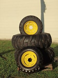 2 16 9 24 John Deere Titan Rear Tires With Rims 2 10 16 5 Front Tires