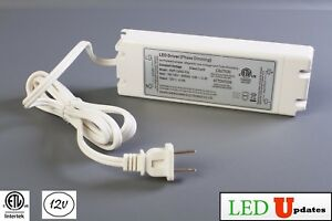 Ledupdates 12v 50w Dimmable 4 16a Power Supply Led Driver Ac To Dc Etl Listed