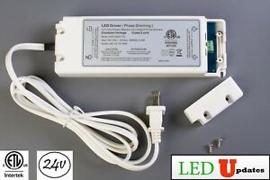 Ledupdates 24v 50w Dimmable 2 1a Power Supply Led Driver Ac To Dc Etl Listed