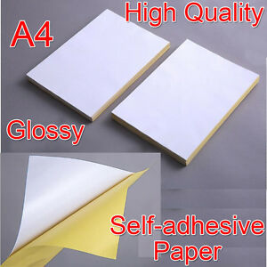 21x29cm A4 Blank Glossy Self adhesive Sticker Sticky Back Label Printing Paper