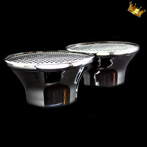 Chrome Velocity Stack Air Cleaner Set Of Two Fits 4 Bbl Carburetors