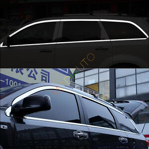 For Dodge Journey 2009 2016 Stainless Steel Window Strip Cover Trim 16pcs
