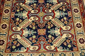 Cir 1930s Antique Caucasian Lezghi Shirvan Rug Runner 3 10x10 4 Natural Dye Wool