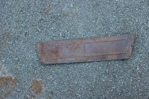 1913 14 Model T Ford Rear Seat Heel Panel Touring