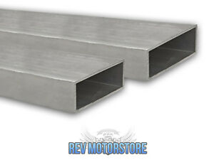 Aluminium Alloy Rectangular Box Section Rectangle Tube T6 4 X 1 X 10 Swg