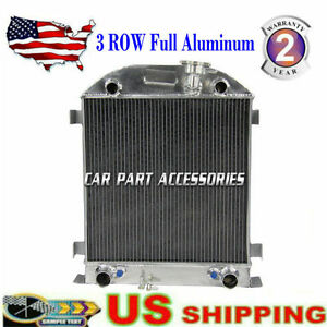 3 Rows Aluminum Radiator For 1928 1929 Ford Model A Flathead Engine Classical