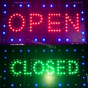 Bright Led 2 In1 Open close Store Shop Bar Business Sign Display Neon 26 52 2 A