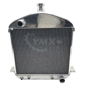 New Ford T Bucket Model Tt Full Aluminum 2 Row Racing Radiator 1917 1927