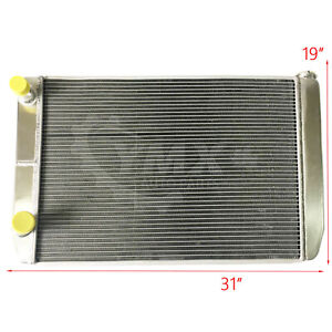 New Ford Mopar 31 X19 X3 Aluminum Racing Radiator 2 Row Double Pass Universal