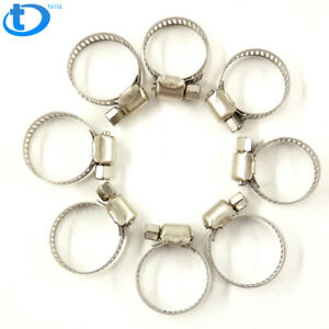 15pcs 3 8 1 2 Adjustable Stainless Steel Drive Hose Clamps Fuel Line Worm Clip