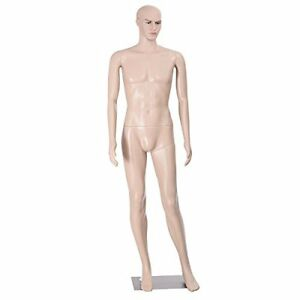 Giantex Male Mannequin Plastic Realistic Display Head Turns Dress Form W Base