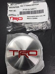 New Oem Trd Embossed Center Cap 4runner Tundra 17 Off Road Wheel Ptr18 34071