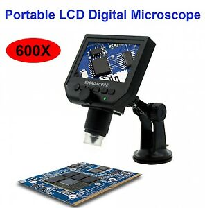 Portable Electronic Lcd Digital Microscope Usb Video Camera Magnifier Endoscope