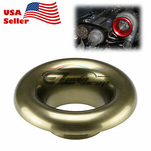 4 Bronze Short Ram Cold Air Intake Turbo Horn Aluminum Velocity Stack Adapter