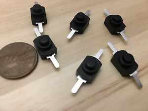 6 Pieces Black Latching Self Locking 1a Push Button On Off Micro Mini 1208 yd B5