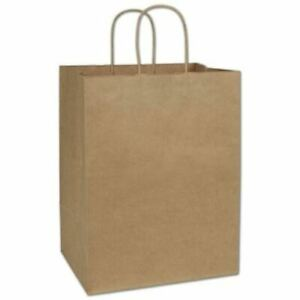 200 Kraft Gift Merchandise Paper Bags Shoppers Lindsey 12 X 9 X 15 1 2