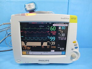 Philips Intellivue Mp30 Patient Monitor M3001a M3014a Co2 Module W Warranty