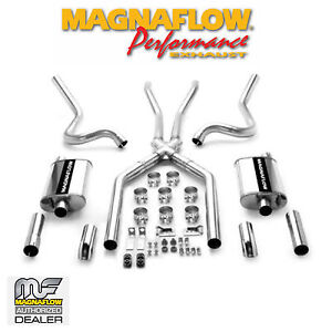 Magnaflow Cat Back Dual Stainless Exhaust System 1964 1966 Ford Mustang 4 7l