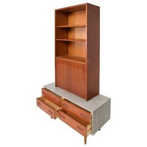 Reduced Danish Modern Cabinet With Hutch Teak