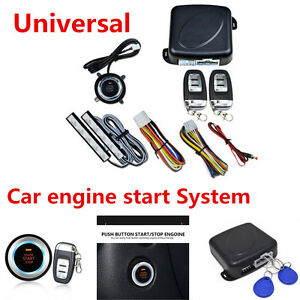 Universal 8x Car Suv Alarm System Keyless Entry Engine Start Push Button Remote