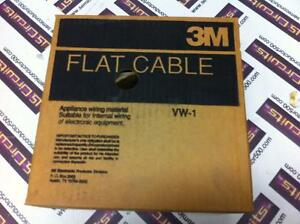 3m Flat Ribbon Cable Grey 100c 100 Conductor 3749 100 New 100ft 30awg Solid