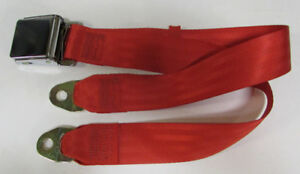 Bright Red Seat Belt 2 Point Seatbelt Non Retractable Red Lap Seat Belt 74