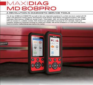 New Autel Maxidiag Md808pro Diagnostic Scanner service Pro Codereader Tool