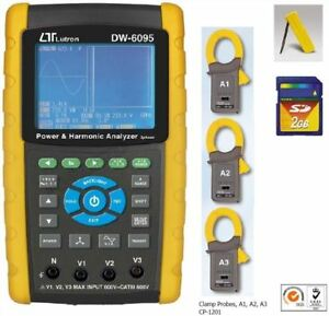 Dw 6095 3 Phase Power Analyzer Sd Card Real Time Data Recorder W harmonic Tes Zw