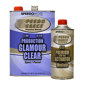 Production Glamour Clear Coat 2 1 Voc Gallon Kit W Med Act Ss 1210 1275