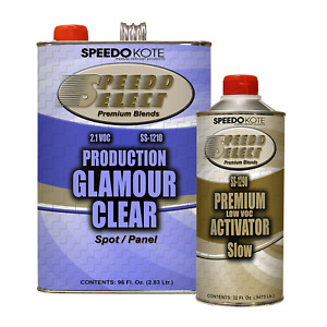 Production Glamour Clear Coat 2 1 Voc Gallon Kit W Slow Act Ss 1210 1290