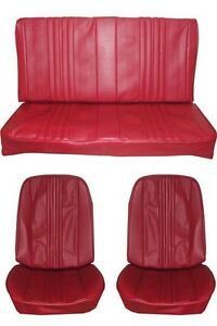 1970 Chevelle Standard Seat Upholstery Full Set Coupe Red