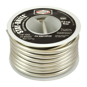 Harris Stay brite Silver Bearing Solder 1 8 1 2lb Pound Spool Sb61 2pop