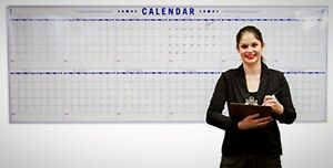 Annual Wall Calendar Large Dry Erase Event Calendar Rollable Whiteboard New