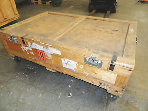Large Wooden Shipping road Case On 4 Heavy Duty Casters