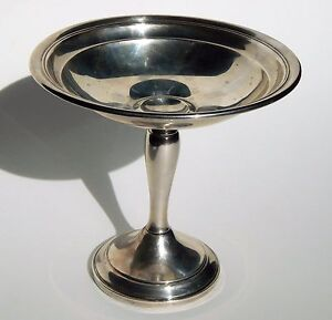 Antique Gorham 925 Weighted Sterling Silver Footed Compote
