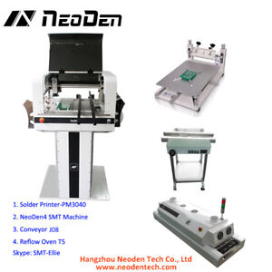 Pcb Pick And Place Assembly Line With Printer Smt Conveyor Reflow Oven j