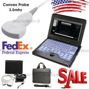 Digital Ultrasound Scanner Diagnostic Machine 3 5m Convex Probe laptop Us Sale
