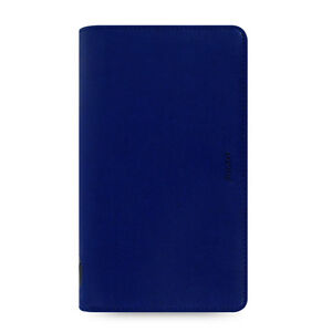 Filofax Compact Zip Pennybridge Organiser Diary Notes Cobalt Blue Leather 028038