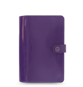 New Filofax Personal Size Original Organiser Planner Diary Purple Leather 022433