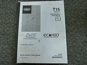 Tennant Model T15 Electric Rider Floor Scrubber Parts Catalog Manual Book