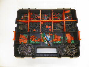 518 Pc Usa Black Oem Deutsch Dt Connector Kit Stamped Terminals Removal Tools