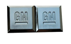 Gm Mark Of Excellence X2 Emblem 1 Door Fender Buick Cadillac Chevy Hummer Pair