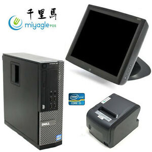 15 Point Of Sale System Pos All In One Touchscreen Restaurant Dell I5 Elo