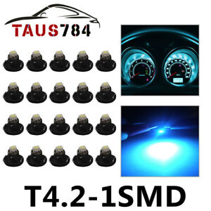 20x Ice Blue T4 T4 2 3smd Dash Gauge Cluster Led Interior Instrument Bulb Light