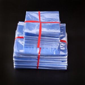 Clear Pvc Heat Shrinkable Plastic Bag Packing Shipping Shrink Wrap Pouches